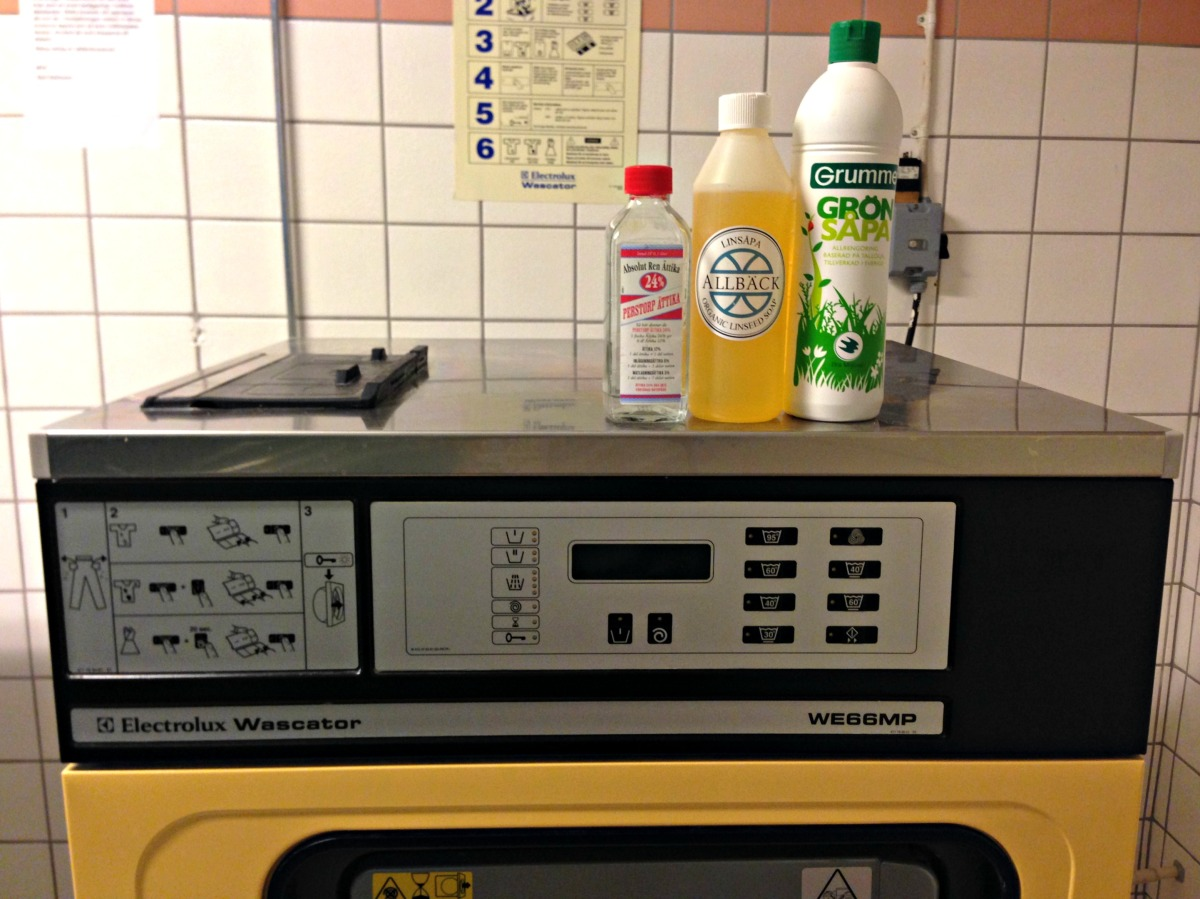 Tvätta med såpa